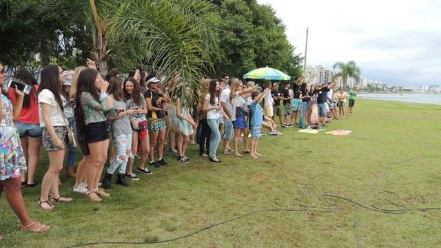 Público participou do Mistura ao vivo na Beira-MAr (Foto: Valéria Martins/RBS TV SC)