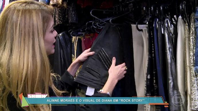 Aline fala do guarda-roupa de sua personagem em Rock Story (Foto: TV Globo)