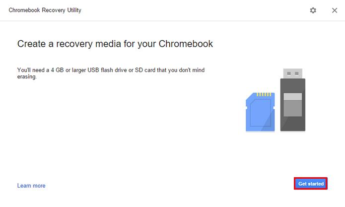 Inicie o assistente de criação de disco do Chrome OS (Foto: Reprodução/Paulo Alves)