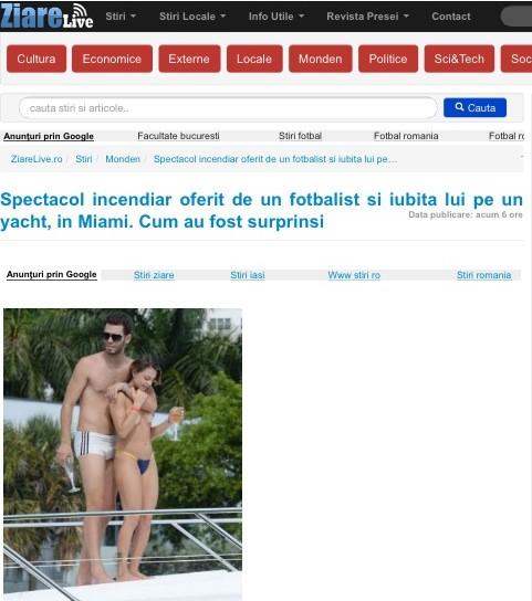 Namoro de Miss Bumbum Portugal e jogador é  destaque na midia internacional  (Foto: Divulgação)