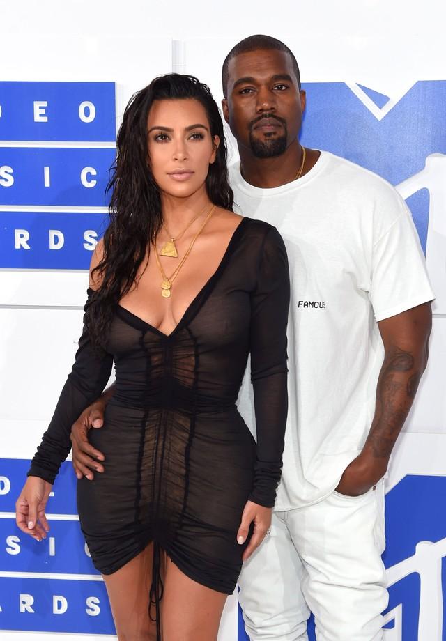 Kim Kardashian e Kanye West no MTV VMA's 2016 (Foto: Getty Images)