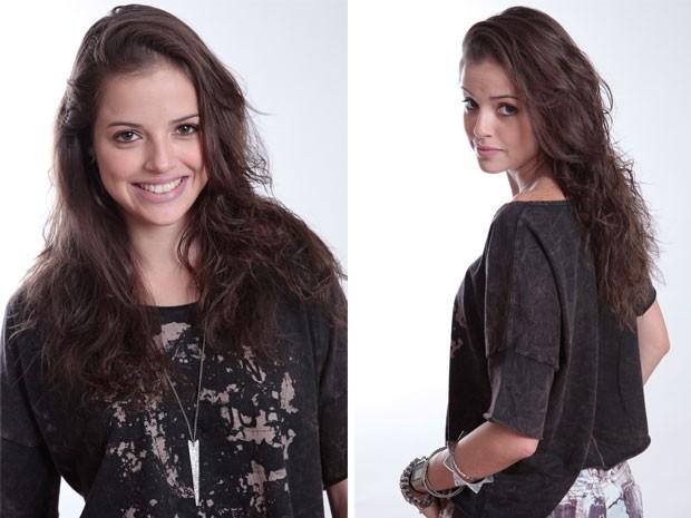 O cabelo de Ju foi cortado em camadas, com as pontas desfiadas (Foto: Malhação / Tv Globo)