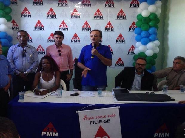 Convenção do PMN é realiza em Aracaju (Foto: Rafael Carvalho/TV Sergipe)