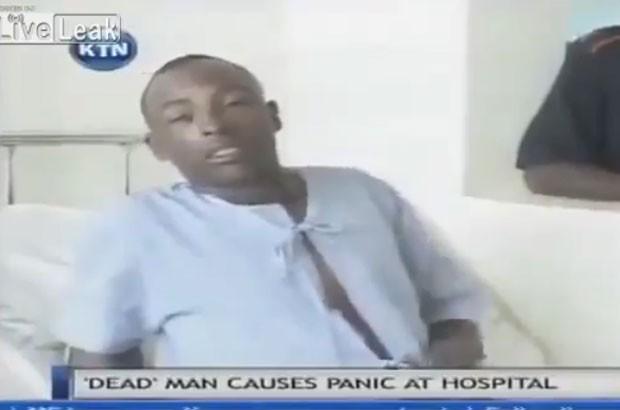 Paul Mutora acordou 15 horas após ser declarado morto (Foto: Reprodução/YouTube/TrendVideoS)