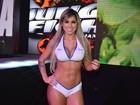 Ex-BBB Vanessa exibe corpo sarado em torneio de luta