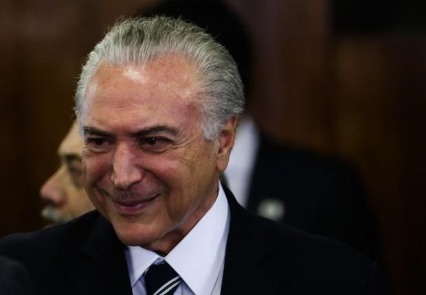 O presidente Michel Temer na reunião de debate das fronteiras (Foto: Wilson Dias/Agência Brasil)