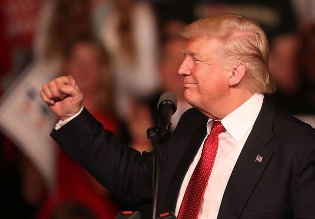 Donald Trump, candidato republicano à presidência dos EUA (Foto: Joe Raedle/Getty Images)