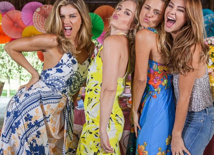 As amigas fazem a festa na gravação do aniversário da Angélica (Foto: Artur Meninea/Gshow)