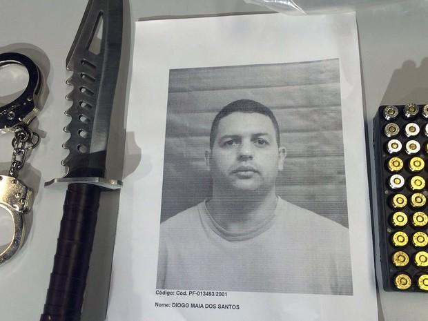Diogo Maia dos Santos, presos por suspeita de atirar em duas mulheres (Foto: Patricia Teixeira/G1)