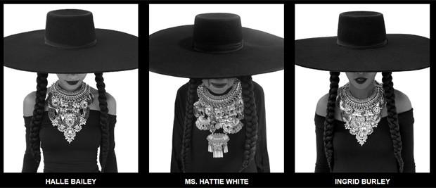 Halle Bailey, Ms. Hattie White e Ingrid Burley (Foto: Divulgação)