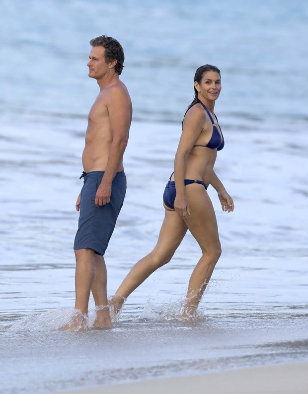 Rande Gerber e Cindy Crawford (Foto: Grosby Group)