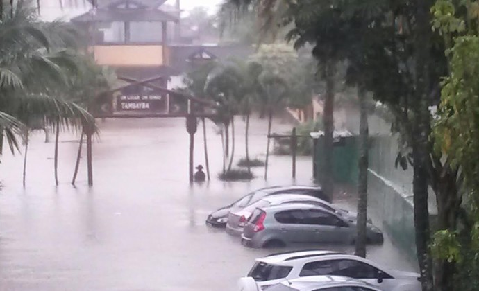 Chuva São Sebastião (Foto: Jonatan Morel/ TV Vanguarda)