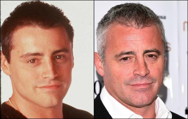 E que tal Matt LeBlanc, o eterno Joey? Na foto à esquerda, feita em outubro de 1997, ele tinha 30 anos. Agora, está com 47. (Foto: Getty Images)
