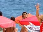 Corpão! Sabrina Sato curte dia de praia no Rio