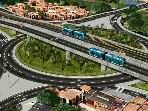 Cruzamento das avenidas Raul Barbosa e Murilo Borges terá rotatória com dois viadutos (Foto: TV Verdes Mares/Reprodução)