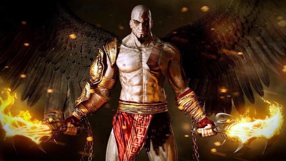 God of War 3 tem violência e nudez parcial (Foto: Divulgação/Sony)
