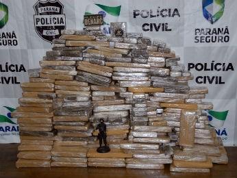Droga está avaliada em cerca de R$ 300 mil (Foto: Divulgação/Polícia Civil)