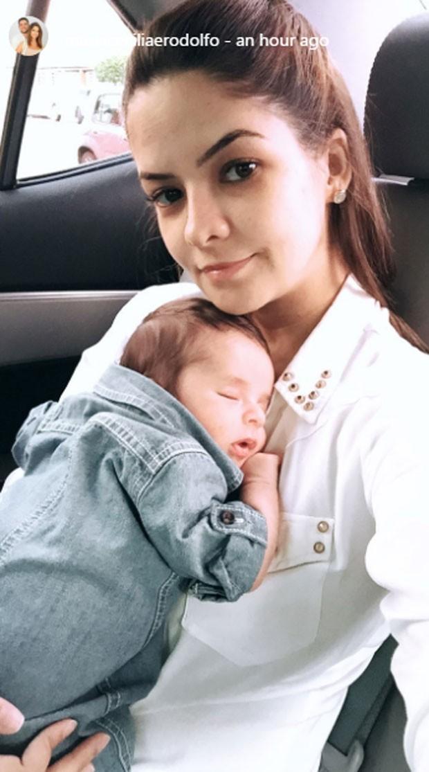 Maria Cecilia e o filho, Pedro (Foto: Reprodução)