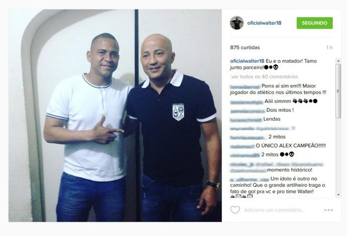 Walter e Alex Mineiro do Atlético-PR (Foto: Reprodução/Instagram)