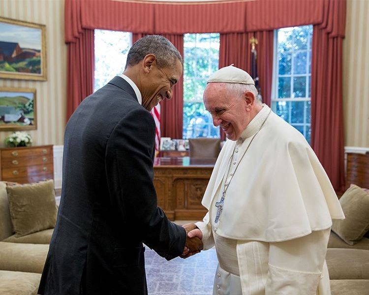 Barack Obama e Papa Francisco  (Foto: Instagram/Reprodução)