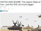 Israel divulga vídeo comparando Irã ao Estado Islâmico