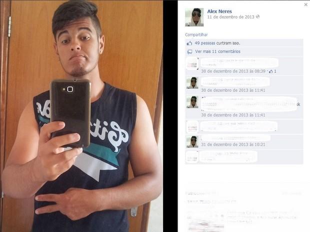 Alex Neres Santos de Lima morreu depois de passar mal em academia de Santa Bárbara (Foto: Reprodução/Facebook)