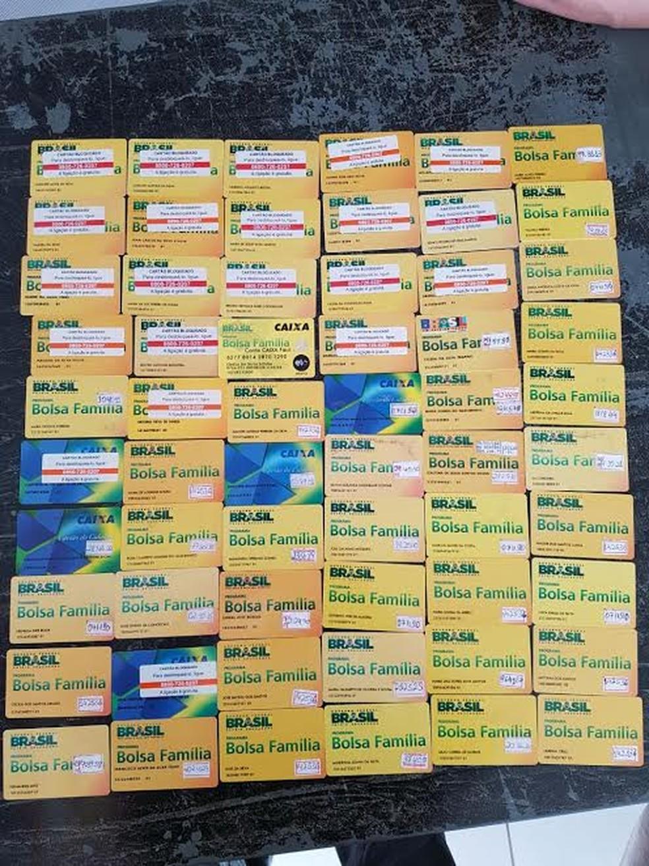 Esquema fraudava documentos para saques de benefícios previdenciários.  (Foto: Divulgação/Polícia Federal)