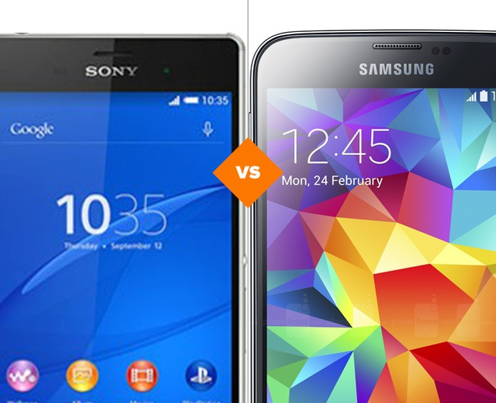 Comparativo Xperia Z3 x Galaxy S5 (Foto: Arte/TechTudo)