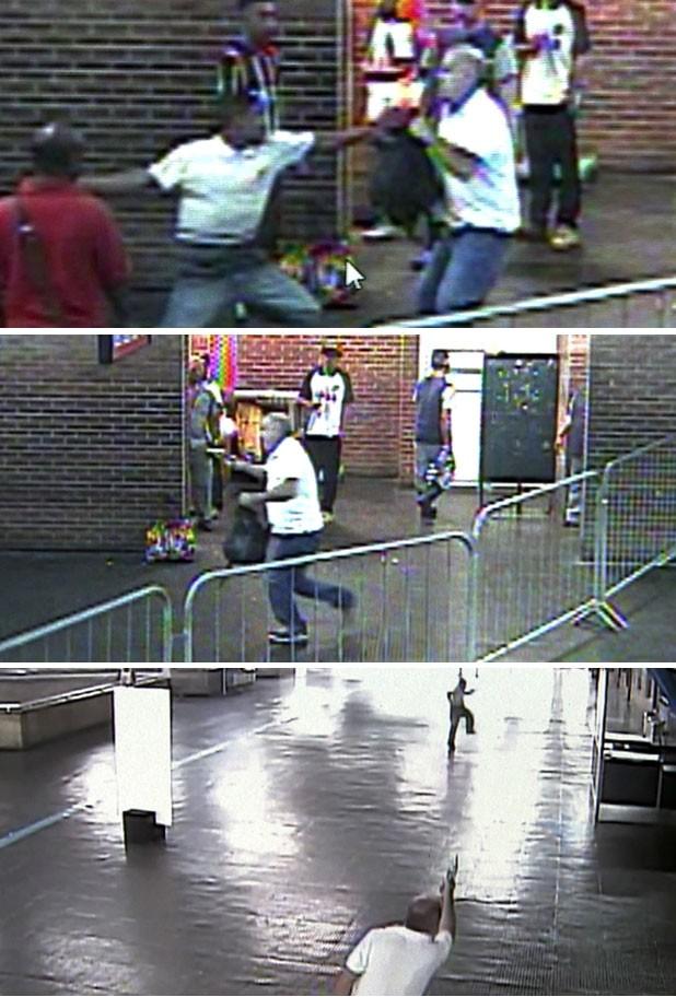 Confusão em estação da CPTM acaba com tiros e uma pessoa baleada em São Paulo (Foto: Reprodução TV Globo)