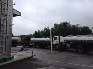 Caminhões de transportadoras foram apreendidos no estado (Foto: Marjuliê Martini/Divulgação)