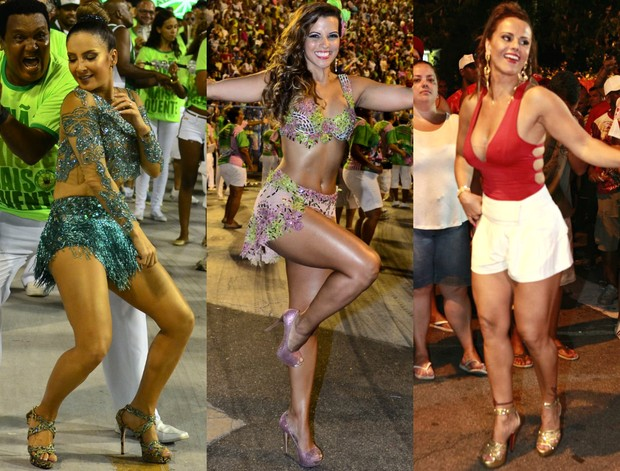 Claudia Leitte, Renata Santos e Viviane Araújo (Foto: Roberto Teixeira / Isac Luz | EGO)