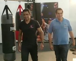 Rodrigo Minotauro falou com exclusividade com a equipe do RJTV (Foto: Reprodução RJTV 1ª Edição)