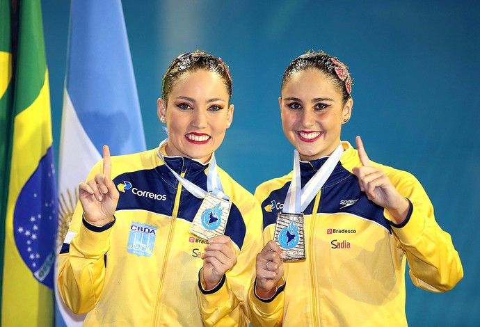 Maria Eduarda Miccuci e Luisa Borges - Sul-Americano de Desportos Aquáticos 2014 (Foto: Satiro Sodré / CBDA)