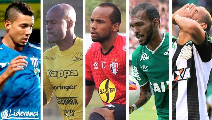 Montagem jogadores clubes  - SC  (Foto: Editoria de arte)