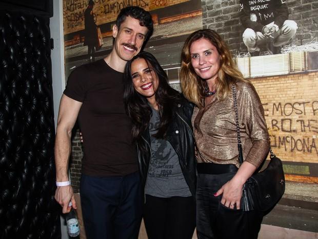 Theodoro Cochrane com Wanessa e Patricia Coelho em festa em São Paulo (Foto: Manuela Scarpa/ Foto Rio News)