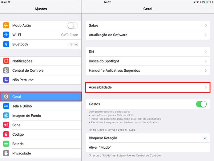 Usuário precisa acessar configurações de acessibilidade do iOS 9 para desativar animações (Foto: Reprodução/Elson de Souza)