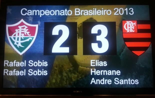 telão maracana gol andré santos, Fluminense x Flamengo (Foto: Richard Souza)