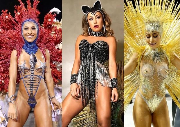 Sabrina Sato no Carnaval 2018 (Foto: Agência Brazil News e Reprodução/Instagram)