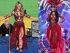 Nicki Minaj usa look parecido com o de Shakira e vira polêmica na web