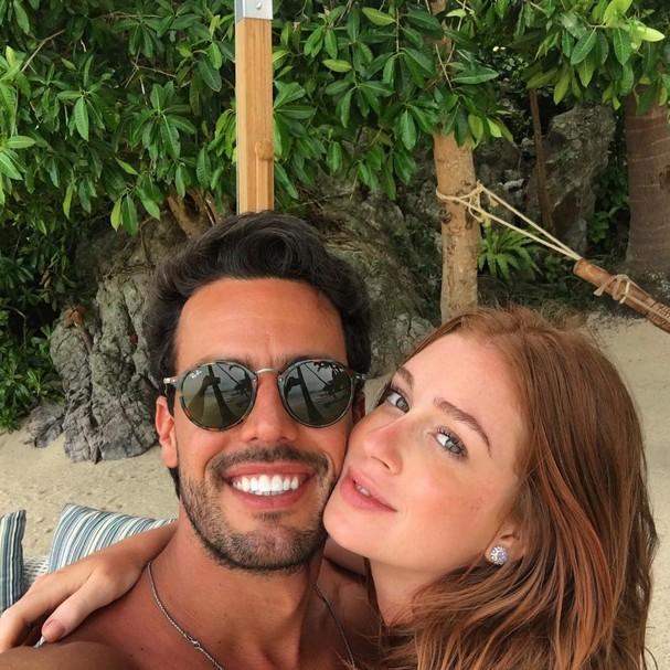 Marina Ruy Barbosa e o noivo Xandy Negrão (Foto: Reprodução Instagram)
