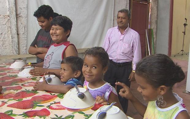 Crianças atendidas pela Casa de Acolhimento Semeador (Foto: Reprodução/TV Amapá)