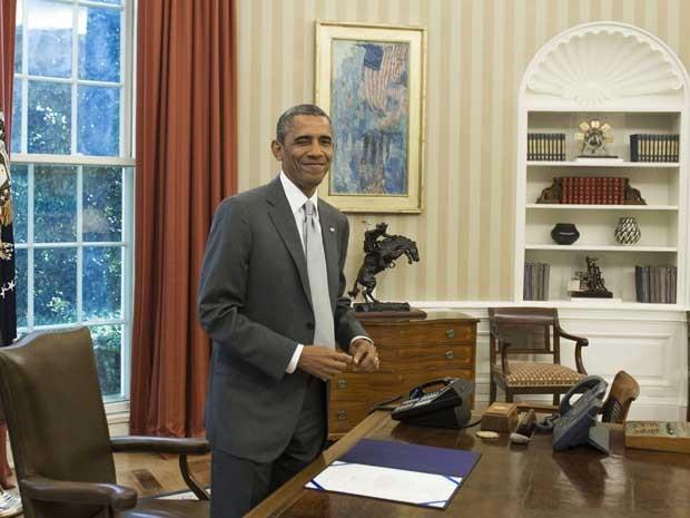 O presidente dos EUA, Barack Obama, no Salão Oval da Casa Branca. (Foto: Saul Loeb / AFP Photo)