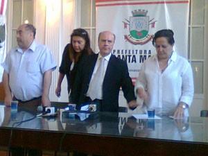 Prefeito de Santa Maria, Cezar Schirmer, pronunciou-se sobre o inquérito da Kiss (Foto: Bernardo Bortolotto/RBS TV)