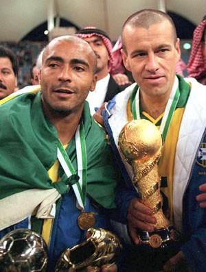 Romario e Dunga, Copa das confederações 1997 (Foto: Getty Images)