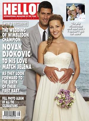 Casamento Djokovic (Foto: Revista Hello)
