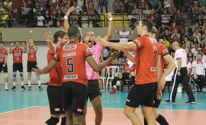 Sesi-SP x Taubaté - final do paulista de vôlei (Foto: Divulgação/Sesi-SP)