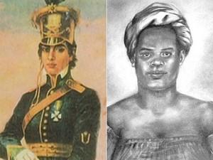 Maria Quitéria, à esquerda, e Maria Felipa, à direita, foram citadas pelo historiador como geroínas do 2 de julho (Foto: Arte G1)