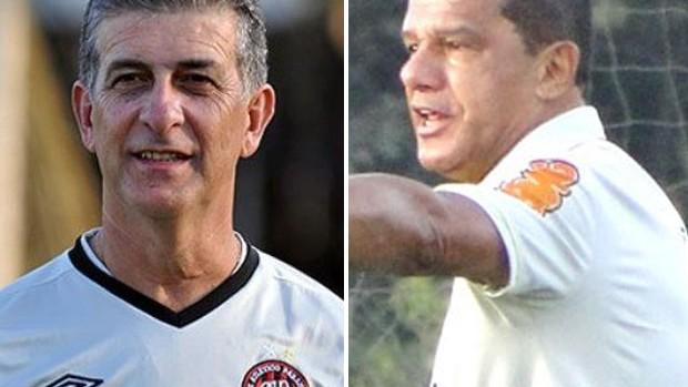 Ricardo Drubscky (Atlético-PR) e metade Mauro Fernandes (América-MG) (Foto: Editoria de Arte / Globoesporte.com)
