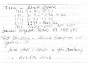 Agenda de secretária da Odebrecht relaciona apelido Feira a Monica Moura (Foto: Reprodução)