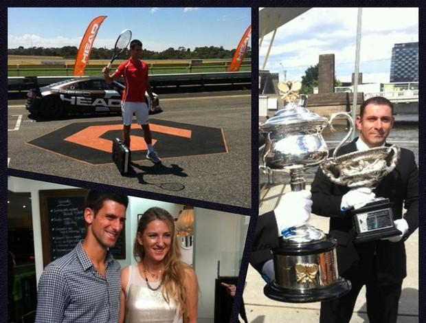 Novak Djokovic tênis facebook montagem (Foto: Reprodução/Facebook)